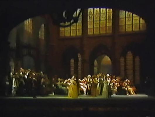 Die Meistersinger von Nürnberg Gran Teatre del Liceu 18 d'abril de 1989 Escenografia Josep Mestres Cabanes acte 1er