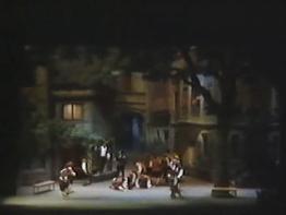 Die Meistersinger von Nürnberg Gran Teatre del Liceu 18 d'abril de 1989 Escenografia Josep Mestres Cabanes acte 2on