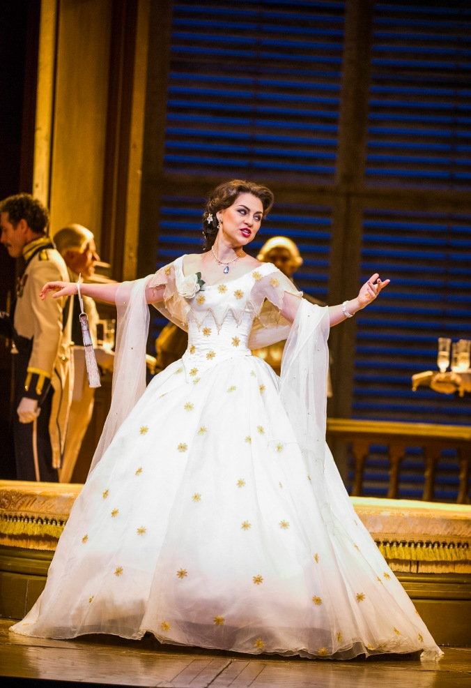 A scene from La Traviata by Verdi @ Royal Opera House. Directed by Richard Eyre. Conductor Yves Abel (Opening 16-01-16) ©Tristram Kenton 01/16 (3 Raveley Street, LONDON NW5 2HX TEL 0207 267 5550  Mob 07973 617 355)email: tristram@tristramkenton.com