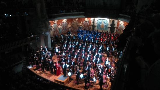 Budapest Festival Orchestra, Orfeó Català, Cor Infantil de l'Orfeó Català, Iván Fischer i Anna Larsson. Palau 20/03/2016 Foto IFL