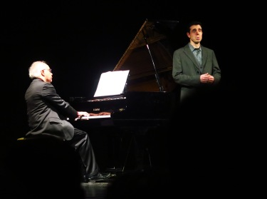 Pierre Réach i Joan Martín Royo Winterreise al Teatre de Sarrià 13 de març de 2016. Fotografia gentilesa de Josep Colet