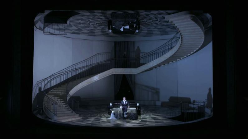 Un ballo in Maschera, producció de Johan nes Erath i escenografia de Heike Scheele