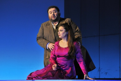 Fabio Sartori !Gabriele) i Barbara Frittoli (Amelia) al Simon Boccanegra Liceu 2016 Fotografia © Antoni Bofill