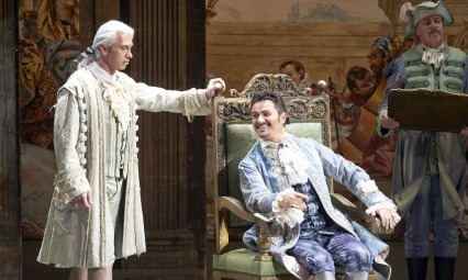 Dmitri Hvorostovsky i Piotr Beczala a Un Ballo in maschera a la Staatsoper de Viena Fotografia: Staatsoper/Michael Pöhn