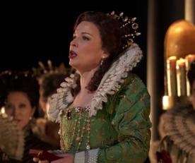 Elina Garanca (Sara) a Roberto Devereux MET