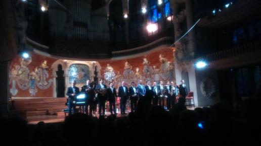 Albert Guinovart, BCN Brass Ensemble i Eduard Farelo al Palau de la Música Catalana 9 de maig de 2016 fotografia IFL