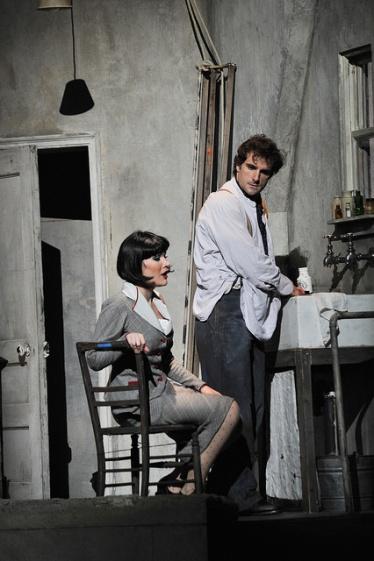 Olga Kulchynska (Musetta) i Gabriel Bermúdez (Marcello) a La Bohème Liceu Fotografia © Antoni Bofill