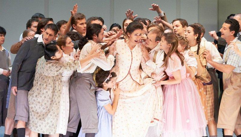 Veroniqe Gens com a Alceste a la Staatsoper de Viena. Fotografia Twitter de la Staatsoper