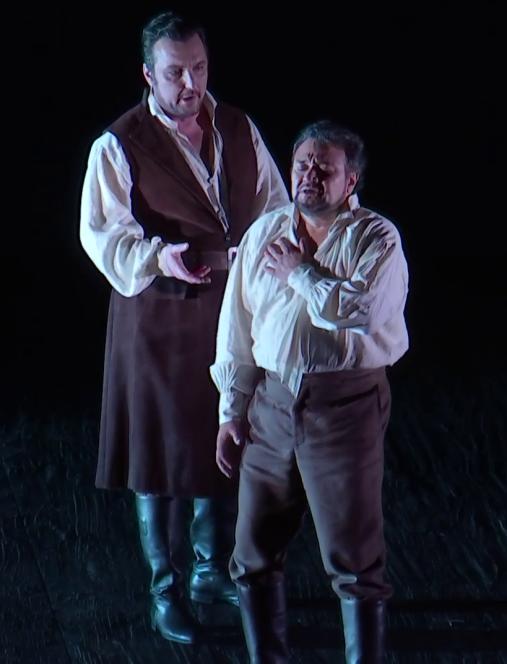 Lodocic Tézier i Ramon Vargas a Don Carlo (Staatsoper de Viena 2016)