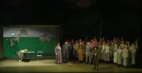 Macbth Acte 1er Producció de Viesturs Meiksans Lettischen Nationaloper