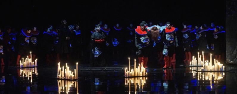 Funeral d'Ofelia, Producció de Olivier Tombosi Amleto Bregenz foto: apa/dietmar stiplovsek
