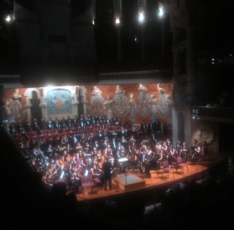 La JONC i la Polifònica de Puig-reig al Palau de la Música Catalana 11/07/2016 Foto IFL