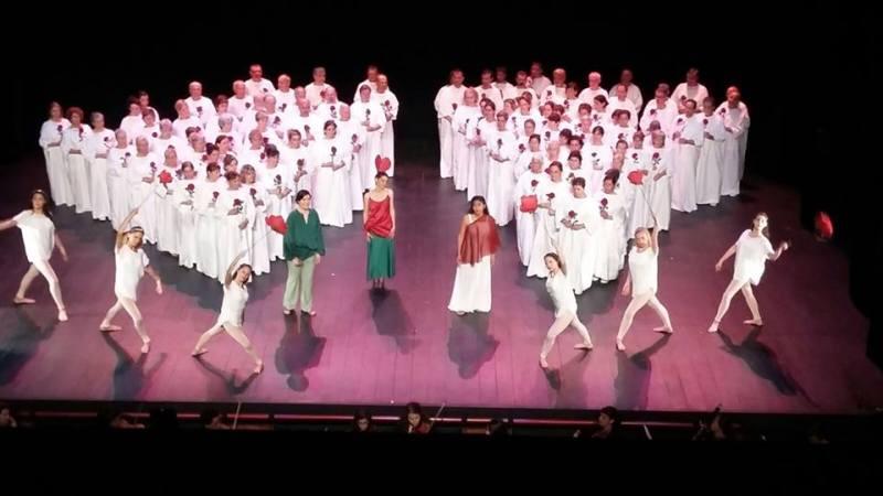 Orfeo ed Euridice al Teatre Tarragona. Direcció escènica de Albert Bonet. Mercè Bruguera, Albra Quinquilla, Brenda L. Sara.