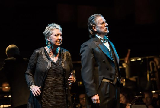 Susan Bickley (Fricka) i Robert Hayward (Wotan). Photo credit: Clive Barda