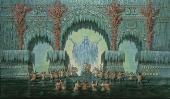 Escenografia per a Die Zauberflöte de Karl Friedrich Schinkel