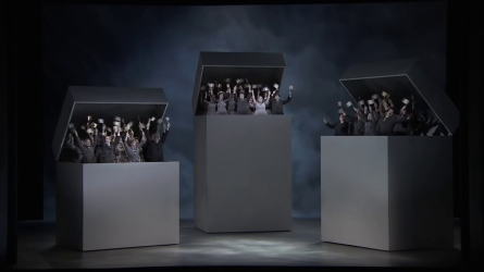Béatrice et Bénédict, Producció de Laurent Pelly Festival de Glyndebourne 2016 Acte 1er