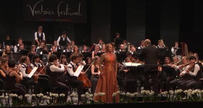Ivan Fischer i Nina Stemme a la Salle des Combinsa Verbier el 4 d'agost de 2016