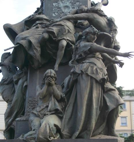 Monumento alle Cinque Giornate di Milano, Piazza Cinque Giornate, Milano (detall)