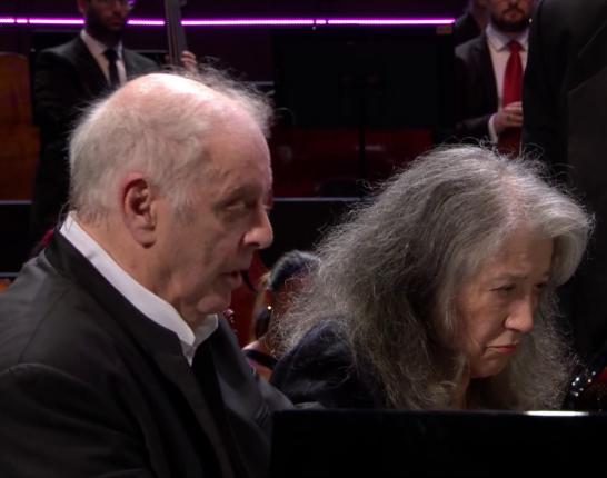 Daniel Barenboim i Martha Argerich PROMS 43 2016