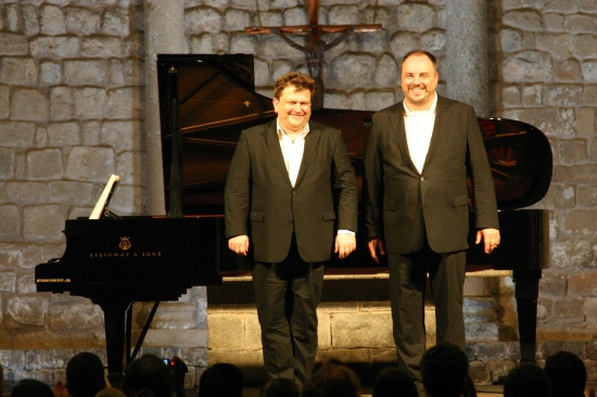 Alexander Schmalcz i Matthias Goerne a Vilabertran  Foto: Josep Maria Poch