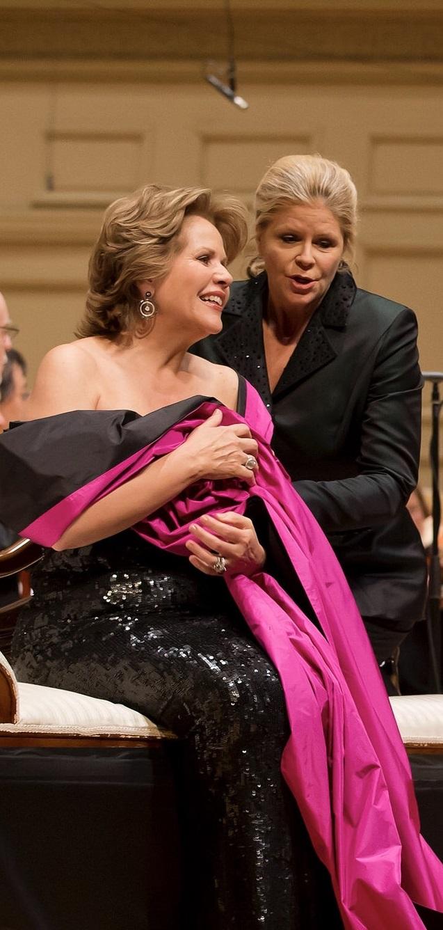 Renée Fleming (Marschallin) Susan Graham (Octavian) a Der Rosenkavalier amb la BSO i Andris Nelsons Fotografia de Winslow Townson, cortesia de Boston Symphony Orchestra