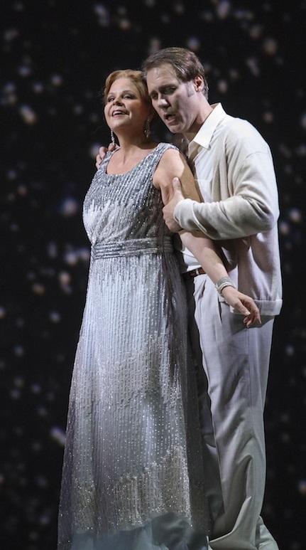 Les Troyens Dido: Susan Graham i Aeneas: Brandon Jovanovich Fotografia © Todd Rosenberg Photography 2016