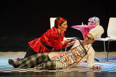 Maria Casado i Beñat Egiarte a Rita, direcció escènica de Eugenia Corbacho AAOS