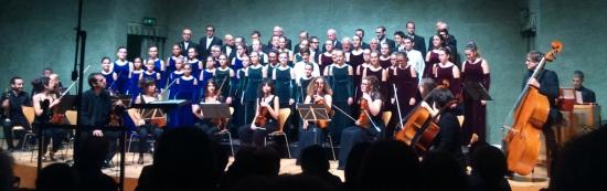 Cor Vivaldi i Coral Polifònica de Puig-Reig, amb la Vivaldi Camerata i Aranu Farré (orgue) Foto IFL