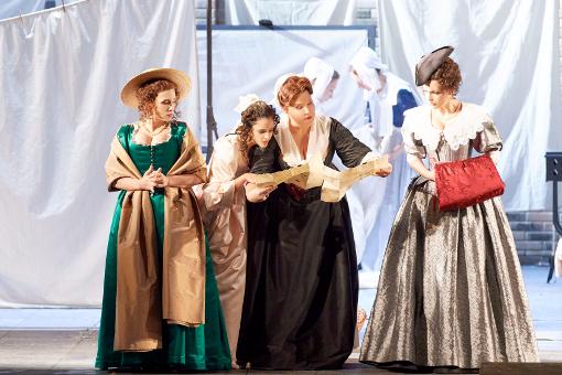 Falstaff a Viena: Giannattasio, Fahima, Lemieux, Jorstad. -Wiener Staatsoper © Wiener Staatsoper | Michael Pohn