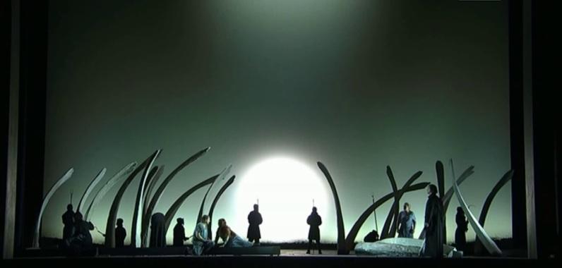 Tristan und Isolde, producció de Pierre Audi al teatre d l'òpera de Roma, Acte 2