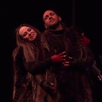 Anna Pirozzi, Lady Macbeth i Giuseppe Altomare (Macbeth) all Teatro Massimo de Palermo