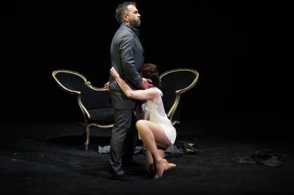 Robin Adams (Vescomte de Valmont i Allison Cook (Marquesa de Merteuil) a Quartett al Gran Teatre del Liceu Fotografia ®A Bofill