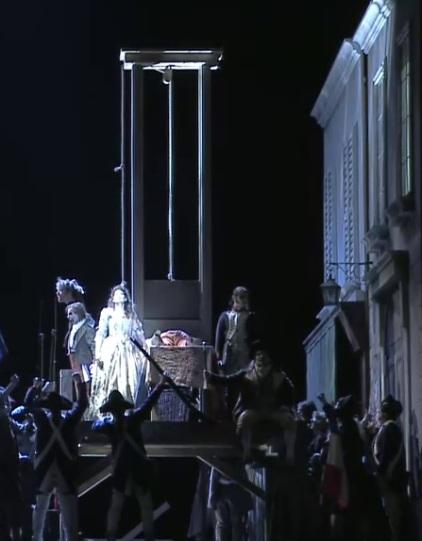 Andrea Chénier, acte 4at producció de Philipp M. Krenn