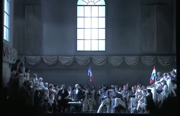 Andrea Chénier, acte 3er producció de Philipp M. Krenn