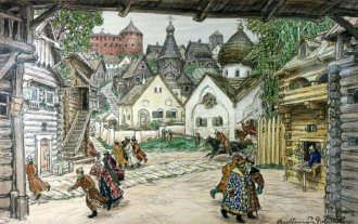 Escenografia per l'òpera Oprichnik (El guardià) de P.I. Txaikovski State Theatrical Bakhrushin Museum, Moscow Русский: Васнецов Аполлинарий Михайлович (1856-1933)