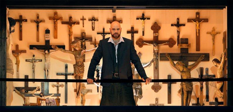 Derek Welton (Klingsor) Parsifal Bayreuth 2017 Fotografia d'Enrico Nawrath gentilesa del Festival de Bayreuth