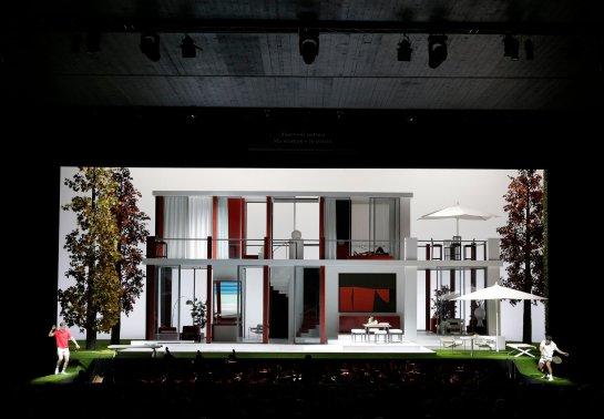 Escenografia de Pier Luigi Pizzi per a La Pietra del Paragone ROF reposició del 2017