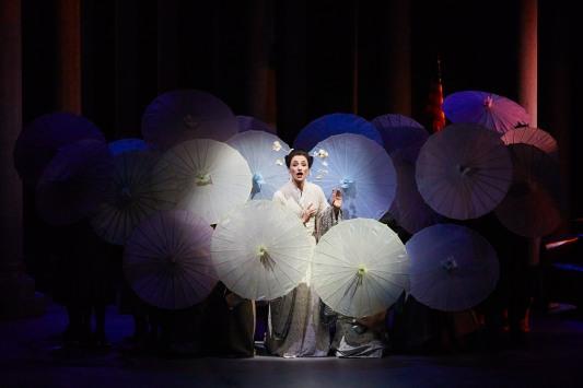 Ermonela Jaho (Cio-Cio-San) Madama Butterfly al Festival Castell de Peralada 2017. Producció de Josep Anton Rechi Fotografia de Toti Ferrer gentilesa del Departament de Premsa de FIMCP