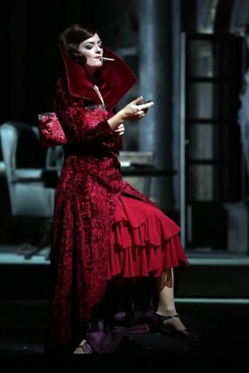 Marianne Crebassa (Irene) Tamerlano, poducció de Davide Livermore Scala de Milà 2017. Fotografia Marco Brescia & Rudy Amisano