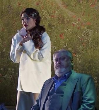 Olga Peretyatko (Violetta) i Paolo Rummetz (Germont) Viena 2017