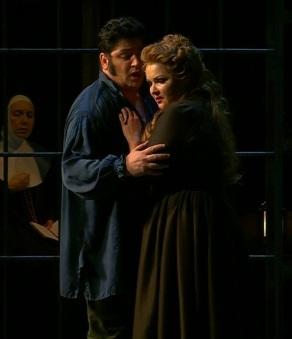 Yusif Eyvazov i Anna Netrebko a l'Andrea Chénier del 7 de desembre de 2017 a la Scala