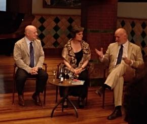 Albert Guinovart, Mònica Pagès i Joan Ollé a la Presentació de Nocturne el CD d'Albert Guinovart Palau de la Música 18 d ejuny de 2018. Foto IFL