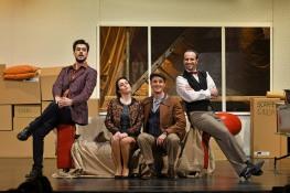 Carles Pachón, Irene Mas, Jorge Franco i Roberto Maietta. La Scala di Seta Teatre de Sarrià Fotografia © A Bofill