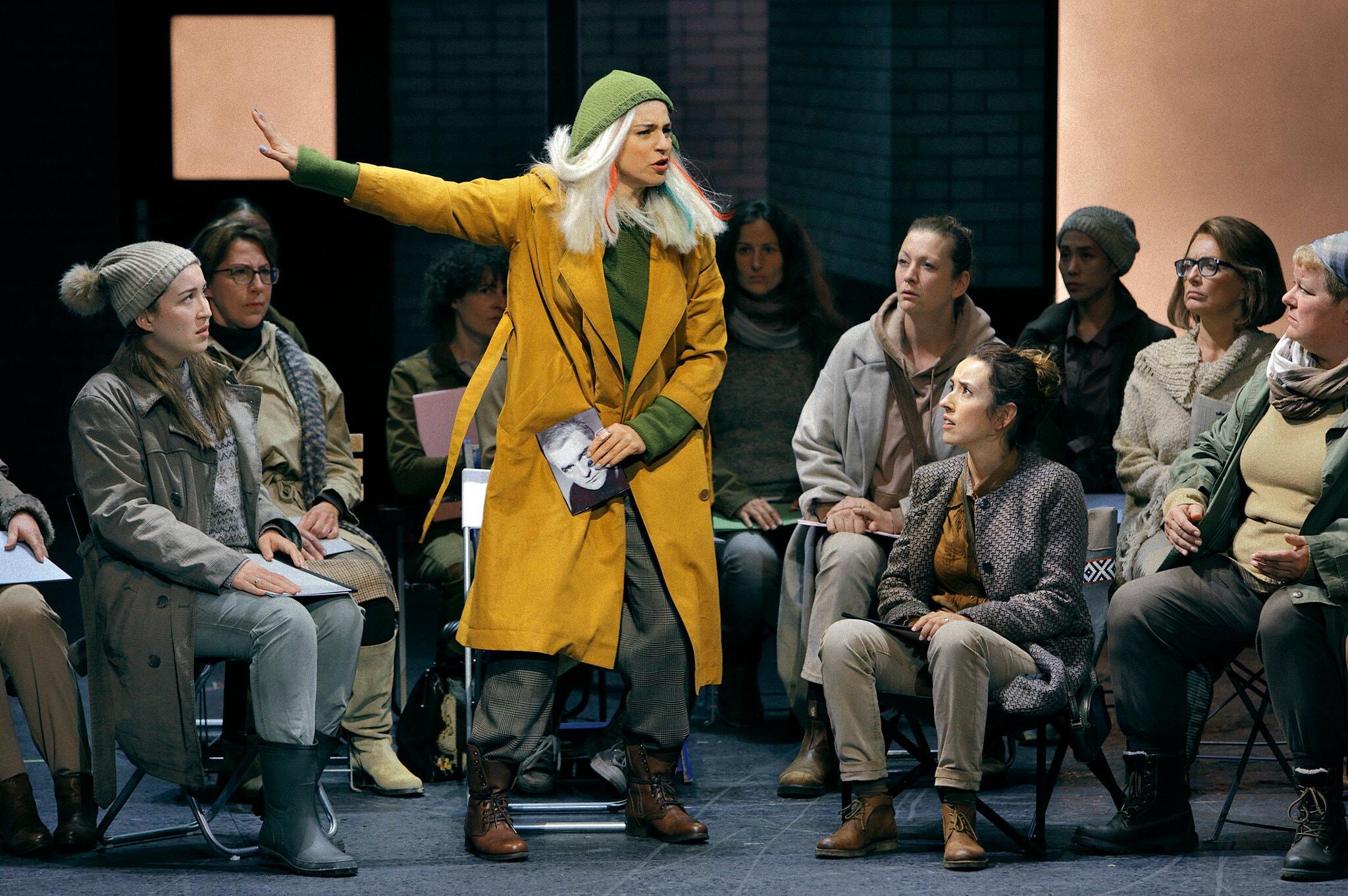 Asmik Grigorian, Senta a la nova prodcuuió de Der  Fliegende Holländer. Foto de Enrico Nawrath gentilesa del Bayreuther Festspiele